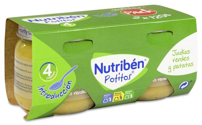 Nutribén Potitos Introducción Judías Verdes y Patatas, 2 Uds
