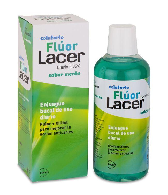Lacer Colutorio Fluor Diario 0,05% Menta, 500 ml