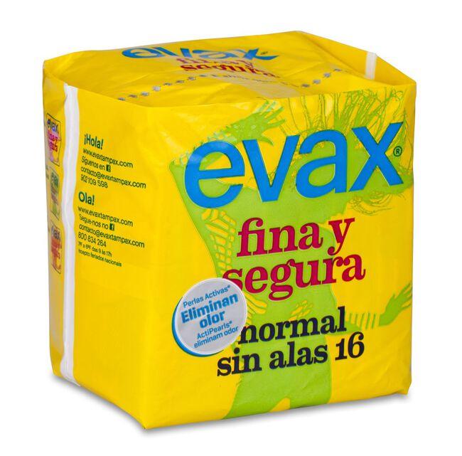 Evax Fina & Segura Compresa Normal Sin Alas, 16 Uds