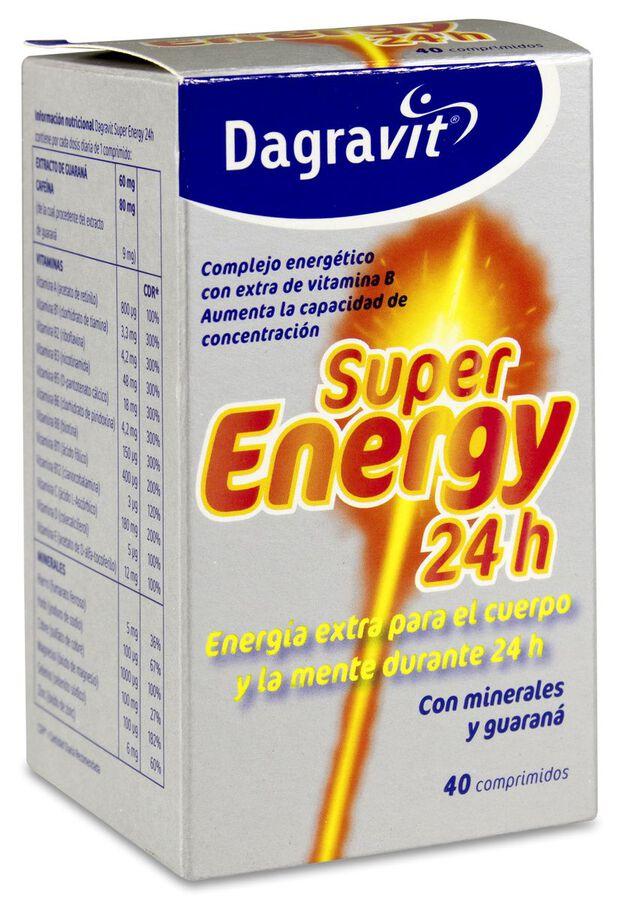 Dagravit Super Energy 24H, 40 Comprimidos