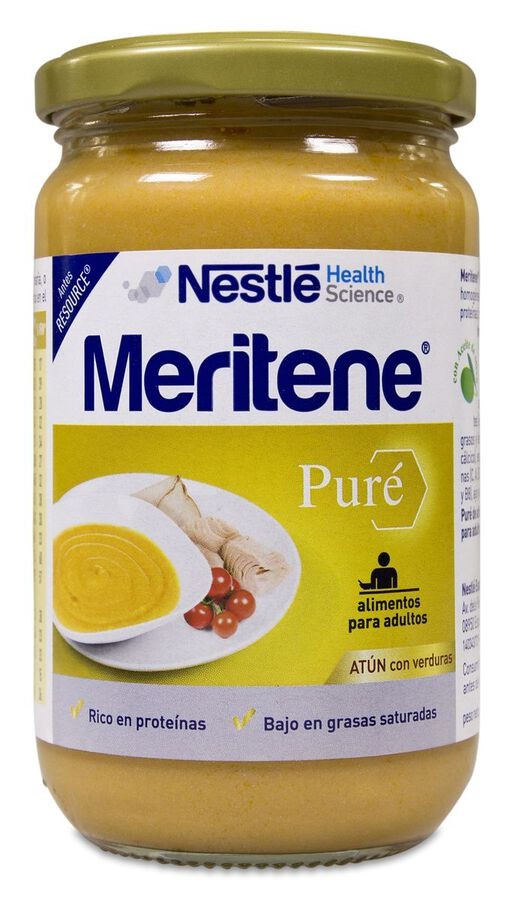 Meritene Puré Atún Con Verduras, 300 g