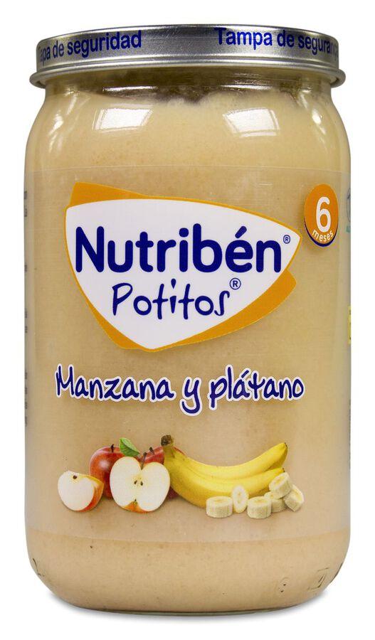 Nutribén Potitos Manzana y Plátano, 235 g