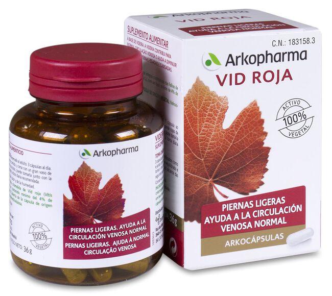 Arkopharma Arkocápsulas Vid Roja, 84 Cápsulas