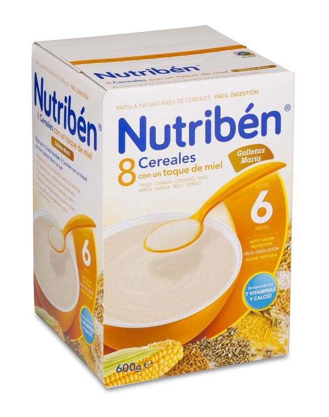 Nutribén 8 Cereales y Miel Galletas María, 600 g