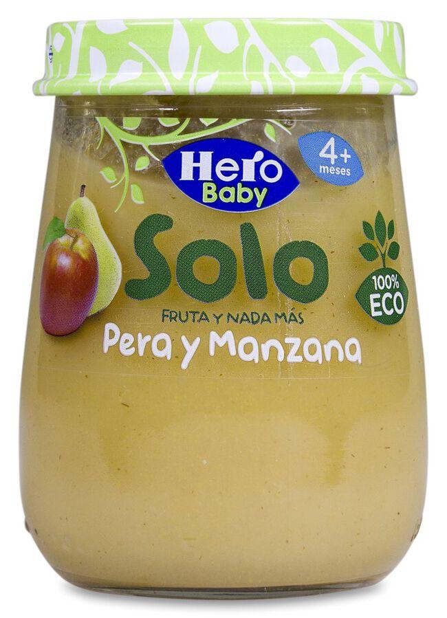 Hero Baby Solo Pera y Manzana, 120 g