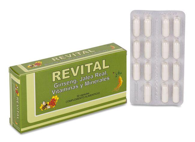 Revital Ginseng, Jalea Real, Vitaminas y Minerales, 30 Cápsulas