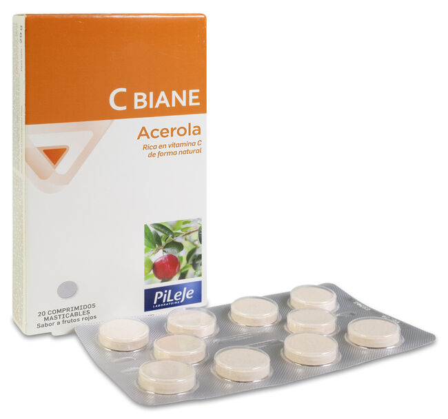 Pileje C-Biane, 20 Comprimidos Masticables