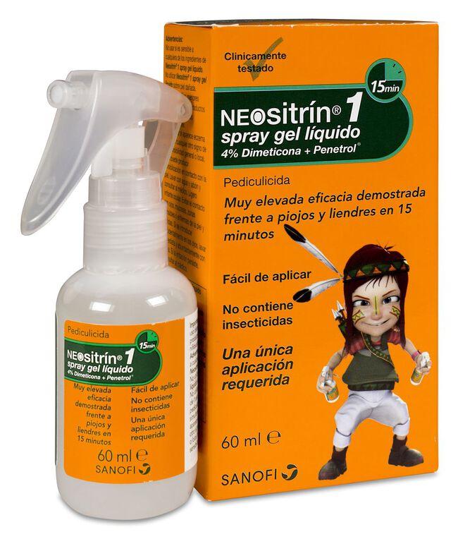 Neositrín Spray Antipiojos Gel Líquido, 60 ml