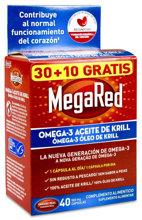MegaRed Omega-3 Aceite de Krill, 40 Cápsulas