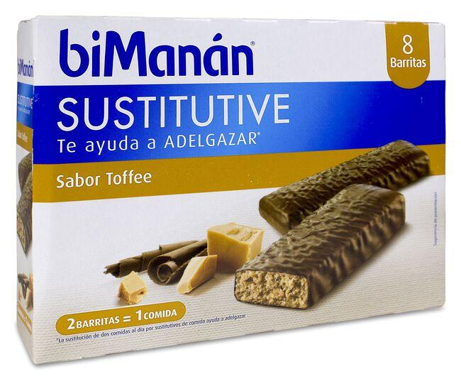 biManán BeSLIM Barritas Sabor Toffee Caramelo, 10 Barritas
