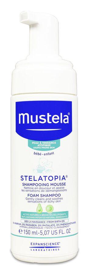 Mustela Stelatopia Champú Mousse, 150 ml