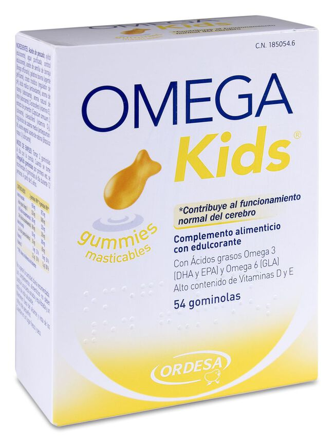 OmegaKids Gummies Masticables, 54 Uds
