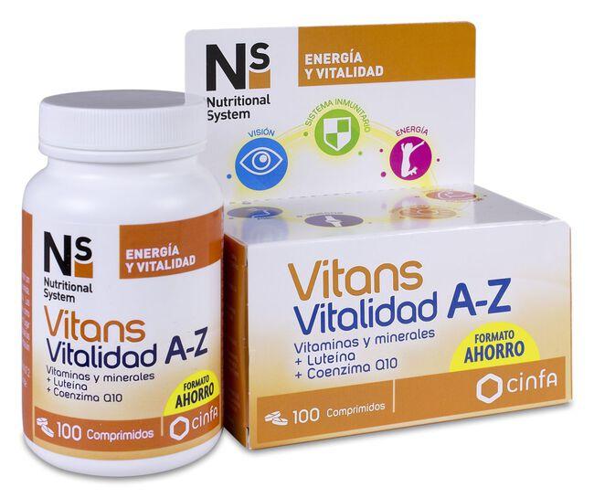 Ns Vitans Vitalidad A-Z, 100 Comprimidos