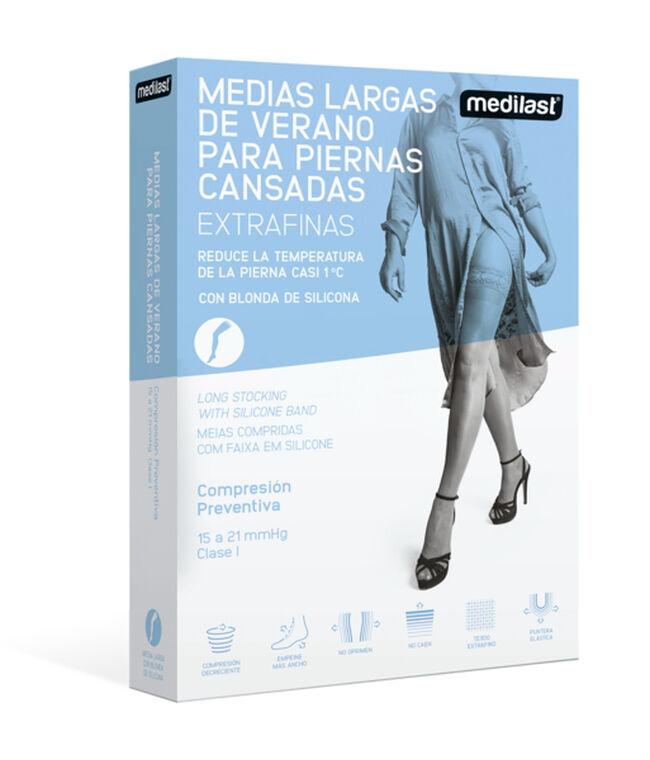 Medilast Fresh Media Larga Compresión Ligera Beige Talla M, 1 Par