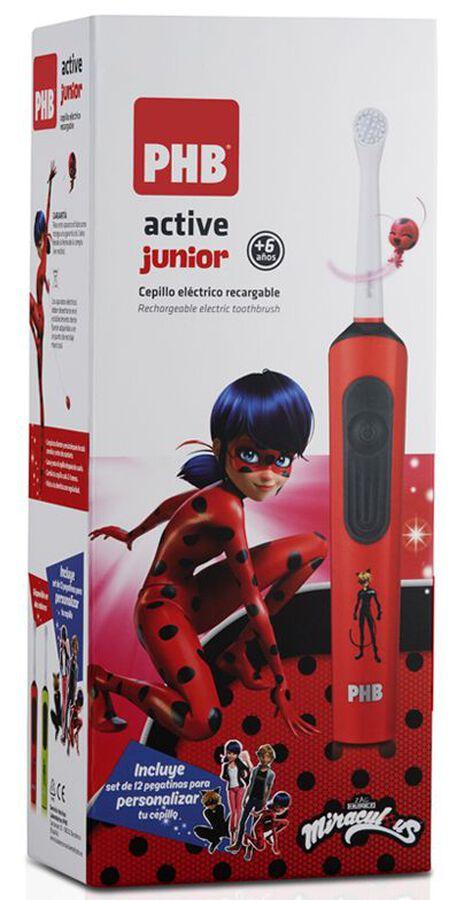 PHB Active Junior Cepillo Eléctrico Recargable Rojo, 1 Ud
