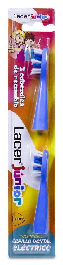 Lacer Junior Cabezales de Recambio Cepillo Dental Eléctrico, 2 Uds