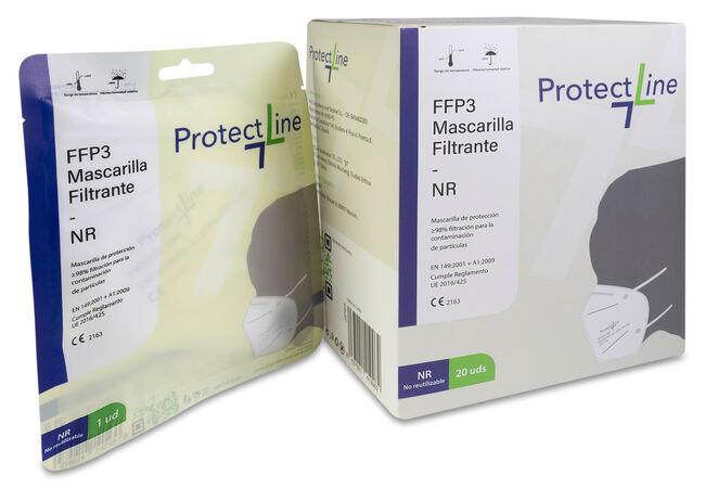 Protect Line Mascarilla FFP3, 20 Unidades