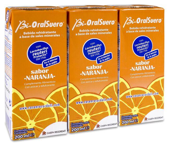 Bioralsuero Naranja, 3 x 200 ml