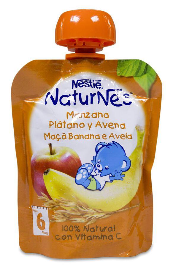 Nestlé Naturnes Bolsita de Manzana, Plátano y Avena