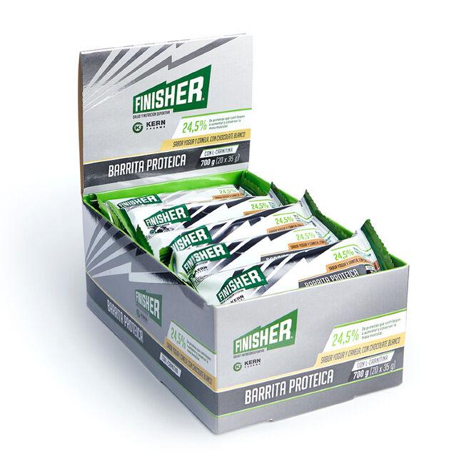 Finisher Barrita Proteica Yogur y Canela, 20 Uds