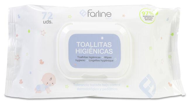 Farline Toallitas Higiénicas Bebé, 72 Uds