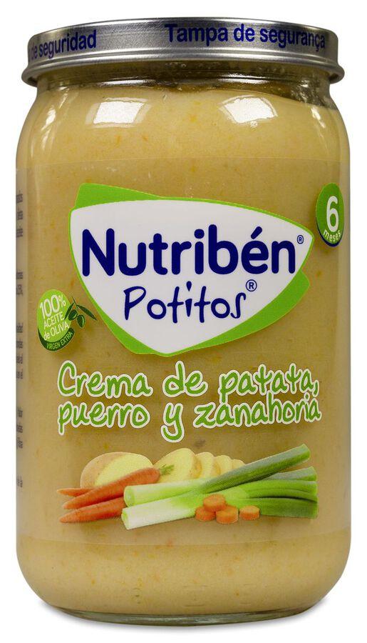Nutribén Potitos Crema de Patata, Puerro y Zanahoria, 235 g