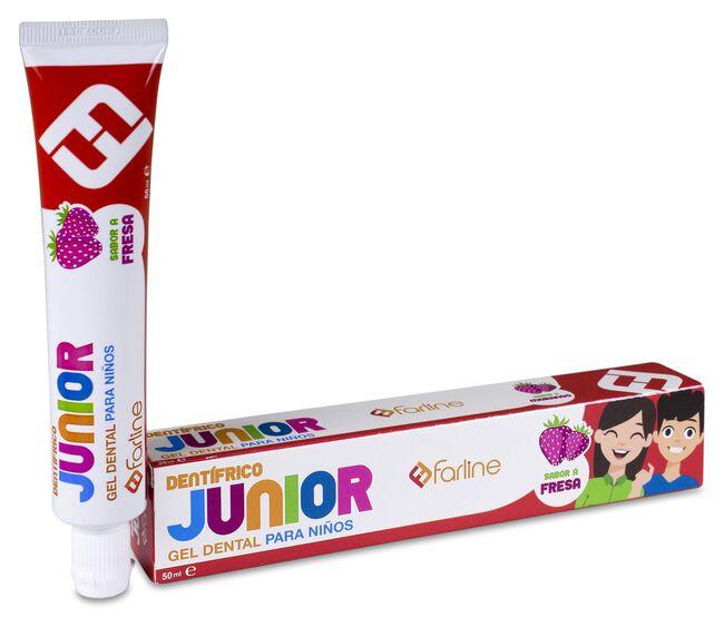 Farline Gel Dental Junior Sabor Fresa, 50 ml