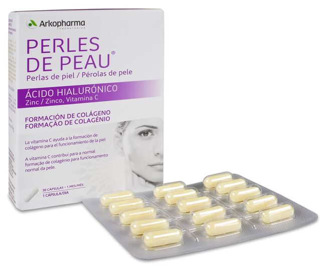 Arkopharma Perlas de Piel Ácido Hialurónico, 30 Uds