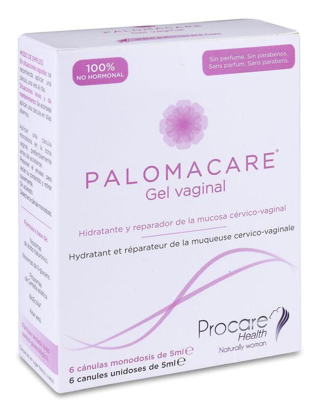 Palomacare Gel Vaginal Hidratante y Reparador, 6 Uds