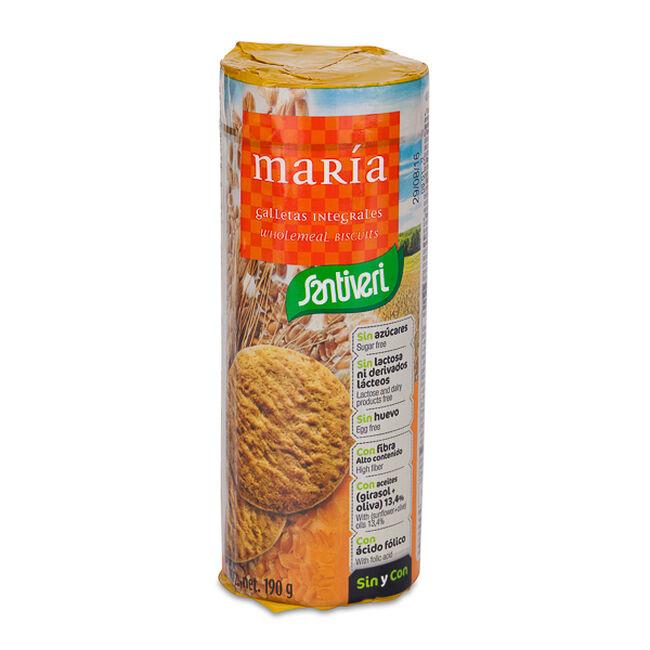 Santiveri Galletas María Integrales Sin Azúcar, 190 g