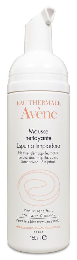 Avène Espuma Limpiadora Matificante, 150 ml