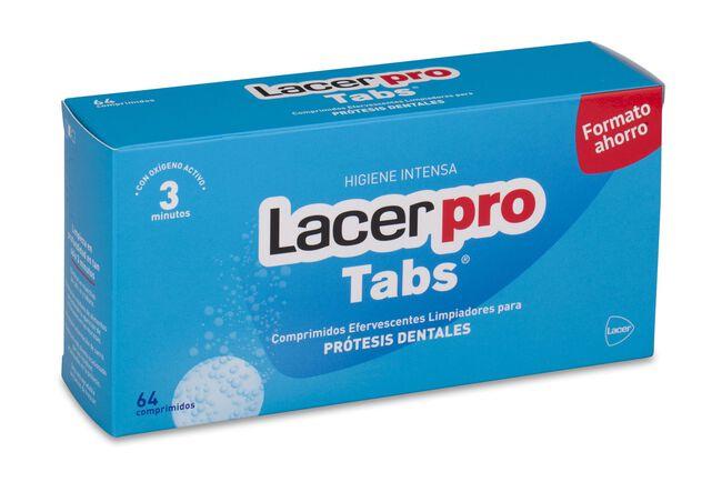 Lacer Pro Tabs Limpieza Prótesis Dental Comprimidos, 64 Uds