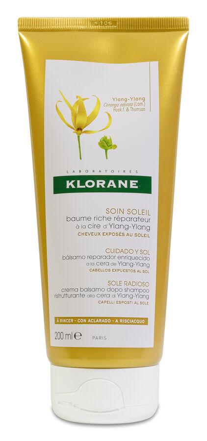 Klorane Bálsamo Reparador a la Cera de Ylang Ylang, 200 ml
