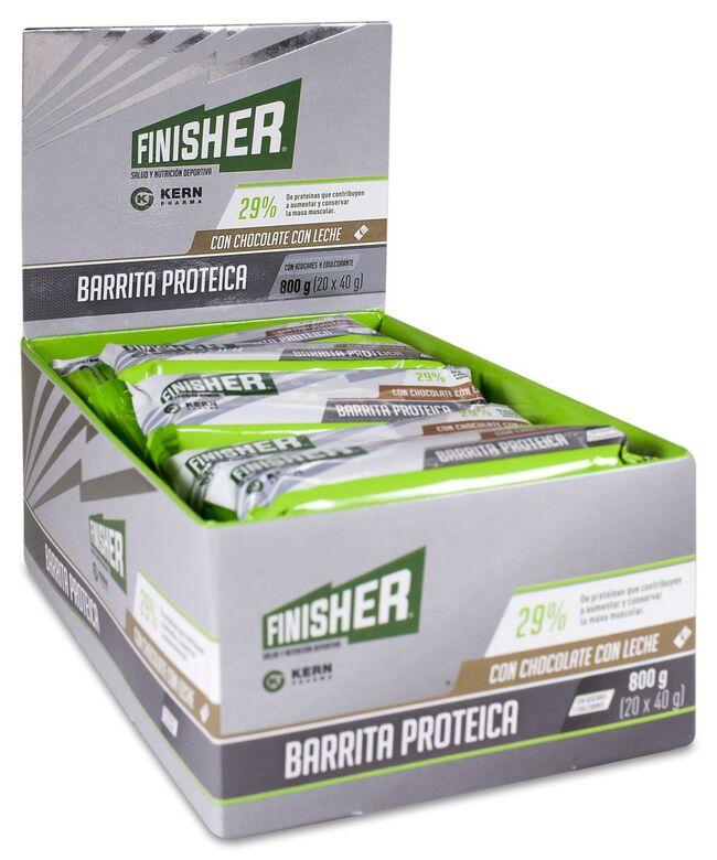 Finisher Barrita Proteica Chocolate con Leche, 20 Uds