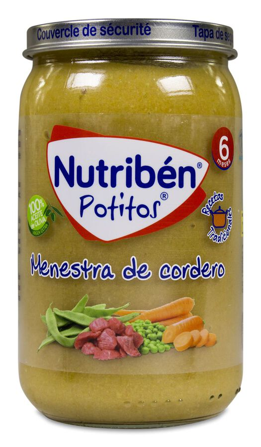 Nutribén Potitos Recetas Tradicionales Menestra de Cordero, 235 g