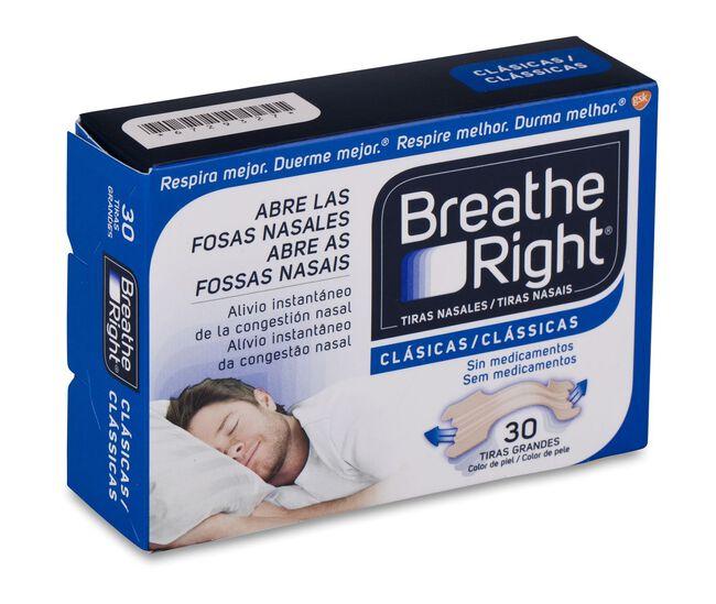 Breathe Right Tira Adhesiva Nasal Color Talla Grande, 30 Uds