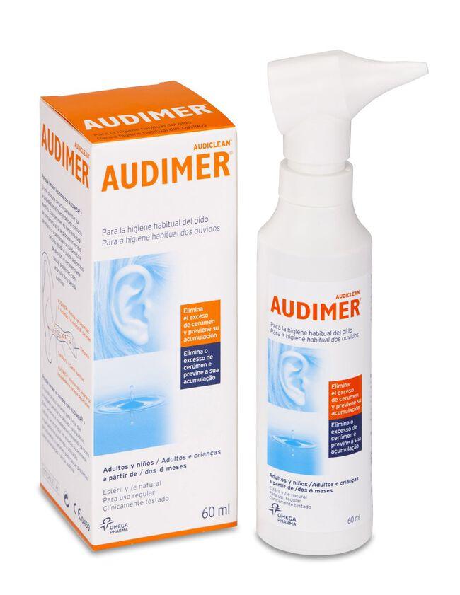 Audimer Audiclean Solución Limpieza Oídos, 60 ml