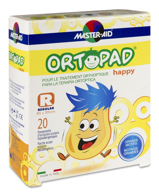 Ortopad Parches Happy Regular, 20 Uds