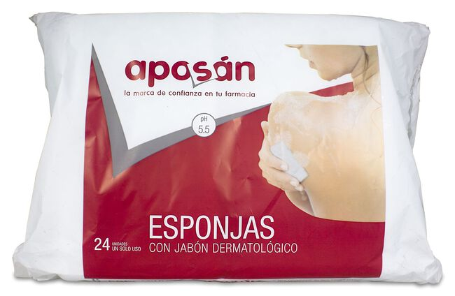 Aposán Esponja Jabonosa, 24 Uds