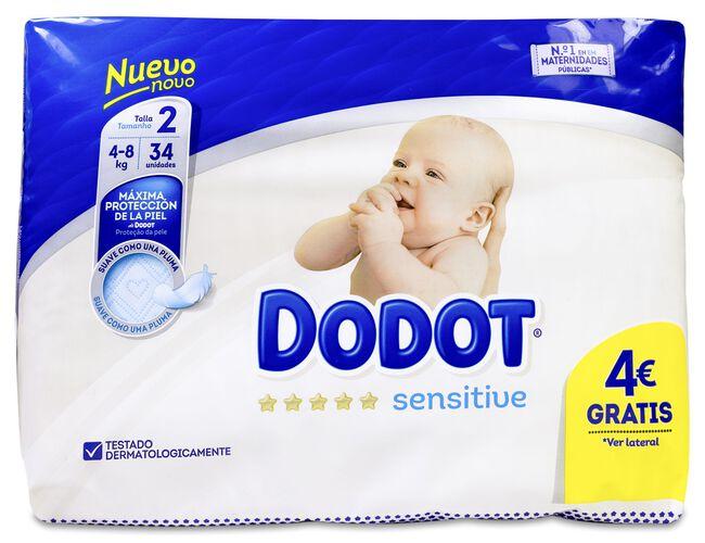 Dodot Sensitive Pañal Talla 2 4-8 Kg, 34 Uds
