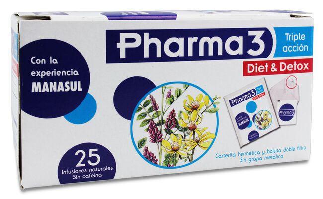 Pharma 3 Diet & Detox, 25 Uds