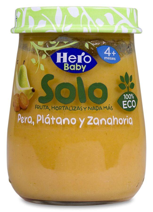 Hero Baby Solo Pera, Plátano y Zanahoria, 120 g