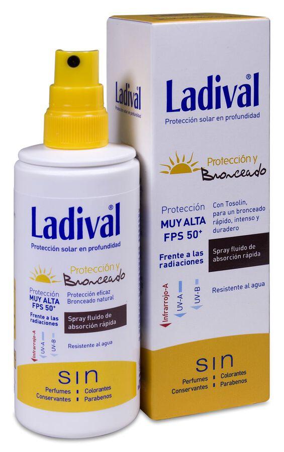 Ladival Protección y Bronceado Spray SPF 50+, 150 ml