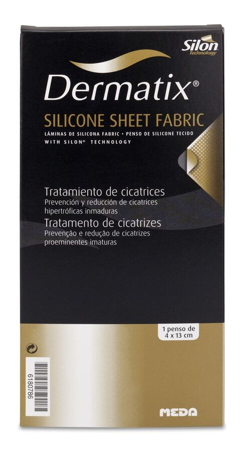 Dermatix Lámina Silicona Fabric 4x13 cm, 1 Ud