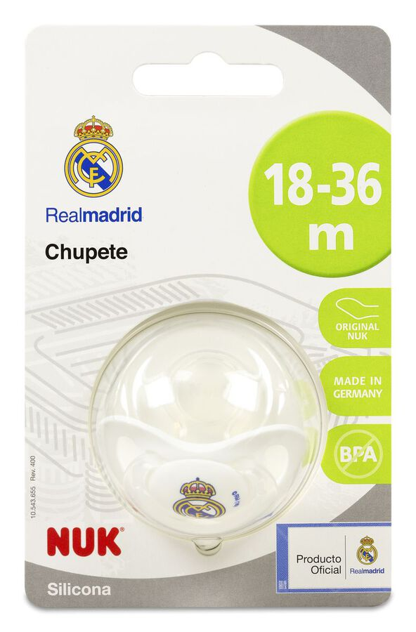 Nuk Chupete de Silicona Real Madrid 18-36 M, 1 Ud