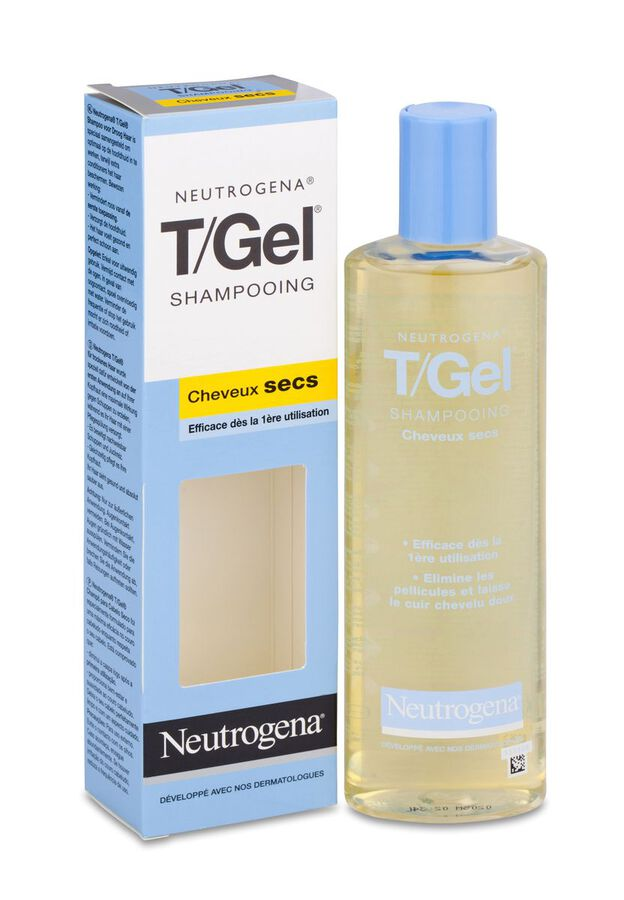 Neutrogena T/Gel Champú Anti-Caspa Cabello Seco, 250 ml