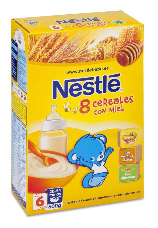 Nestlé Papilla 8 Cereales Con Miel, 600 g