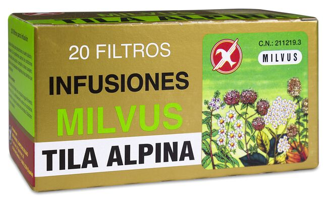 Milvus Tila Alpina, 20 Filtros, 20 Sobres
