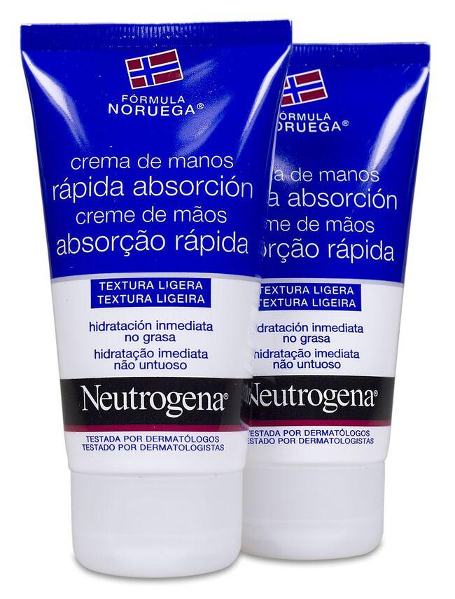 Pack Neutrogena Crema de Manos Rápida Absorción, 2 Uds