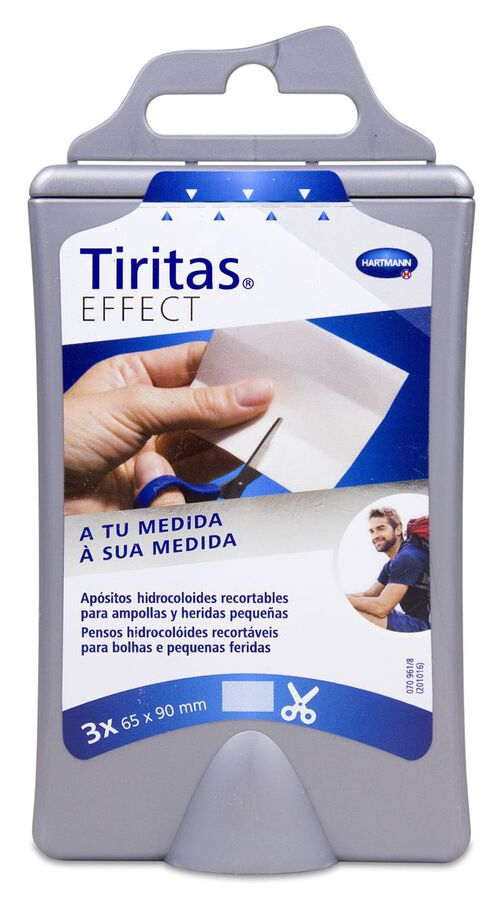 Tiritas Effect Ampollas Recortables 90 x 65 mm, 3 Uds